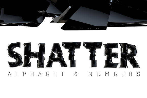 Shatter Alphabet And Numbers