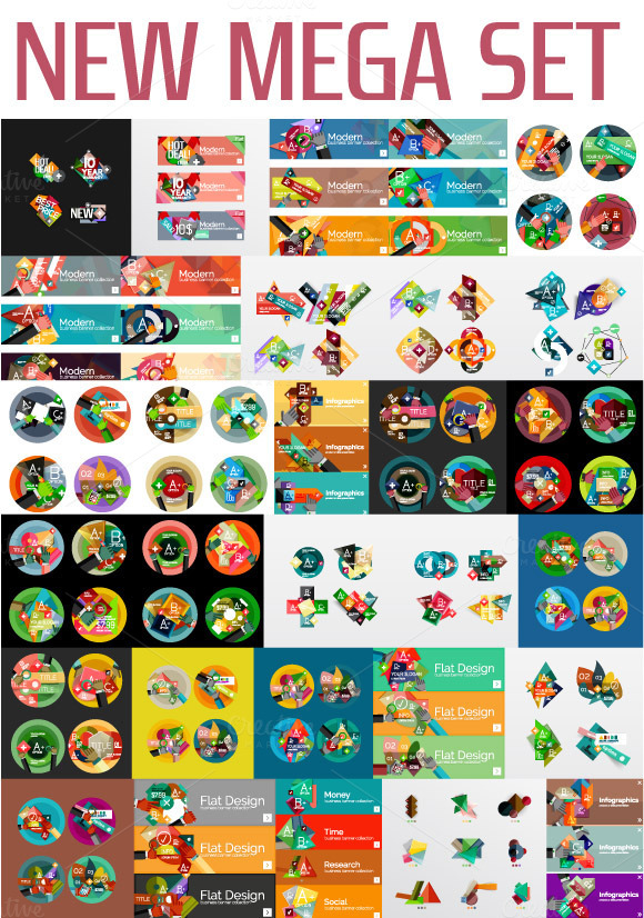Big Infographic Mega Set