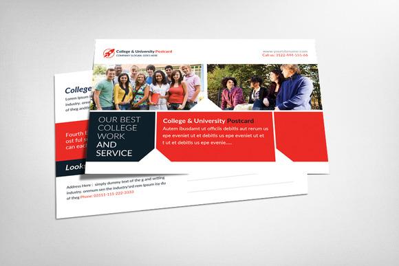 College University Postcard