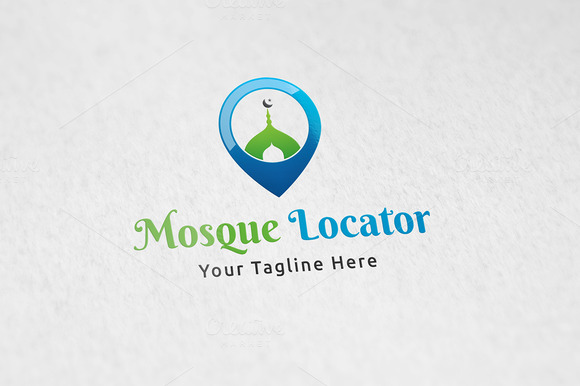 Mosque Locator Logo Template