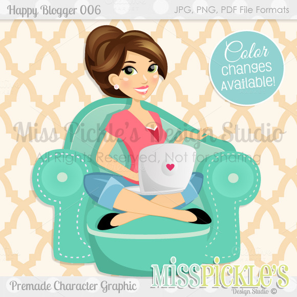 Happy Blogger 006- Character Graphic