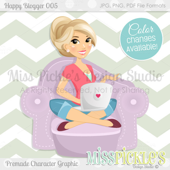 Happy Blogger 005- Character Graphic