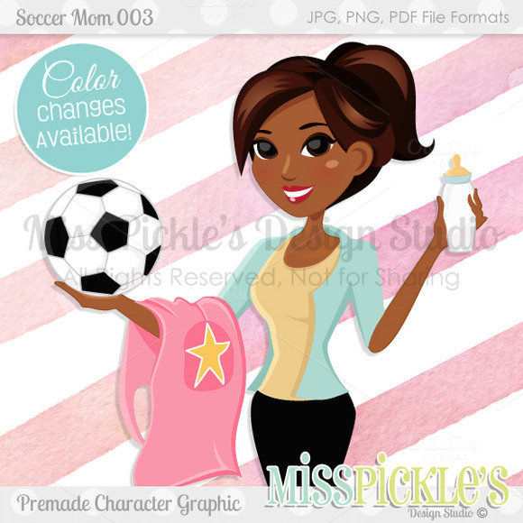 Soccer Mom 003- Character Graphic
