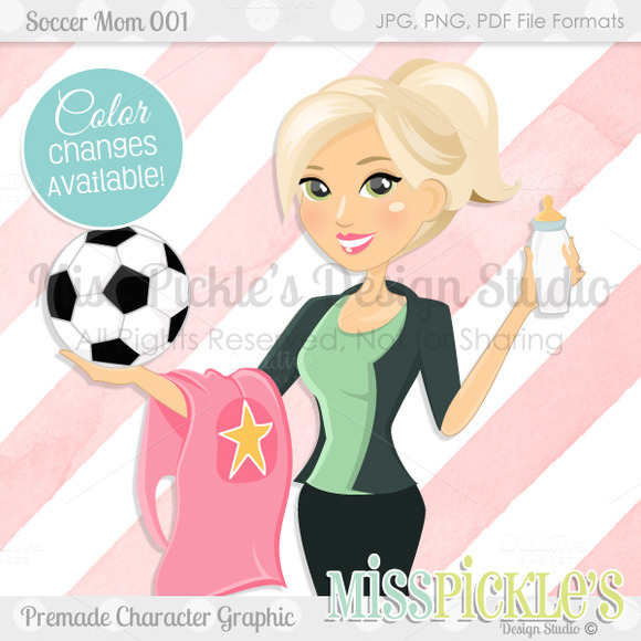 Soccer Mom 001- Character Graphic