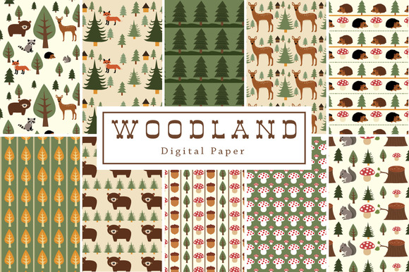 40% Off Woodland Backgrounds