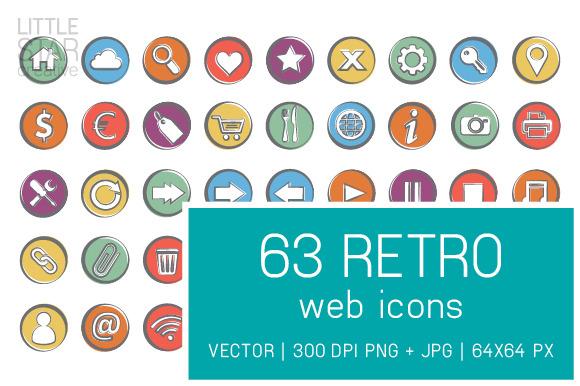 Retro Web Icons