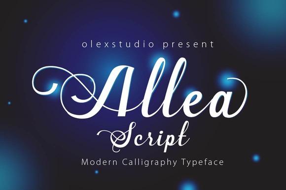 Allea Script
