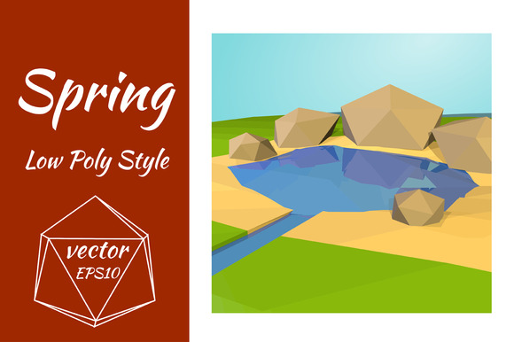 The Stream And Stones Vector