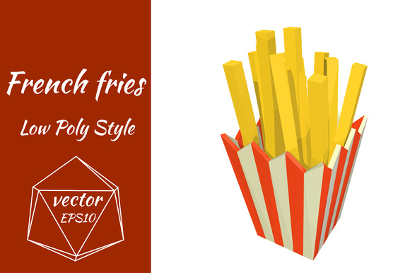 Packing With Fries Vector
