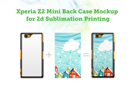 Sony Xperia Z2 Mini 2d Case Mock-up