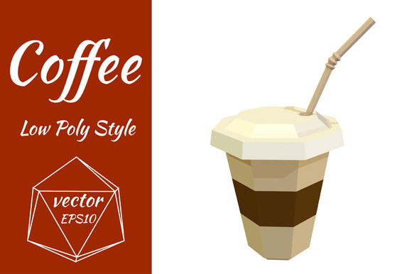 Plastic Cup Of Coffee Vector