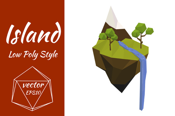 Flying Island Vector