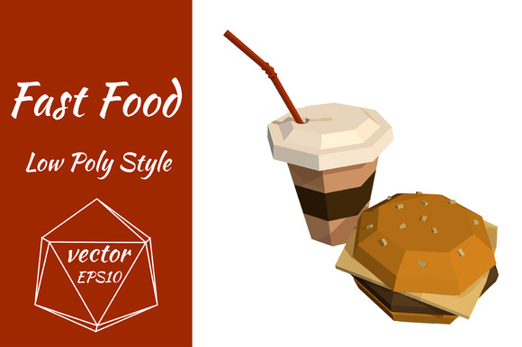 Coffee And Burger Vector