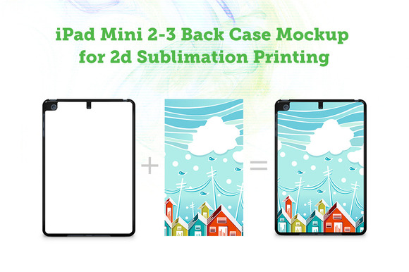 IPad Mini 2-3 2d Case Mock-up
