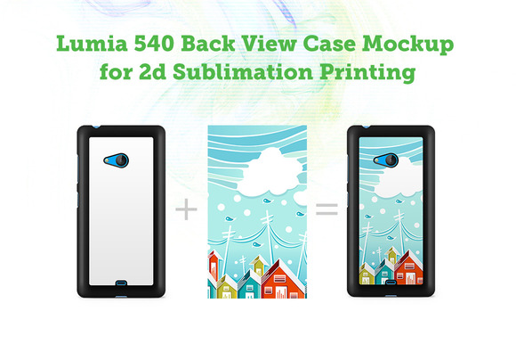 Lumia 540 3D Sublimation Case Mockup