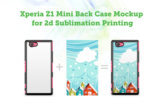 Sony Xperia Z1 Mini 2d Case Mockup