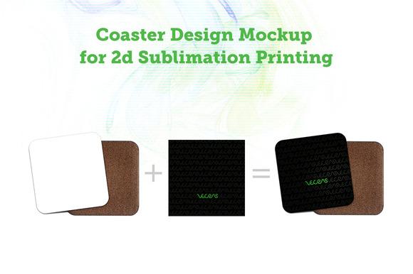 Coaster 2d Sublimation Case Mock-up