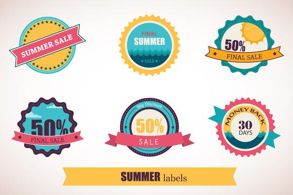 Summer Sale Summer Time Labels