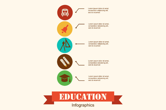 Education School Infographics