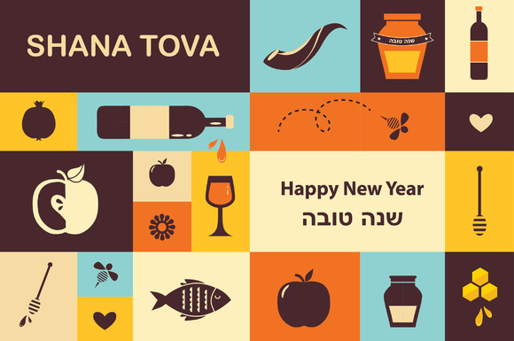 Jewish New Year-Rosh HaShana Set