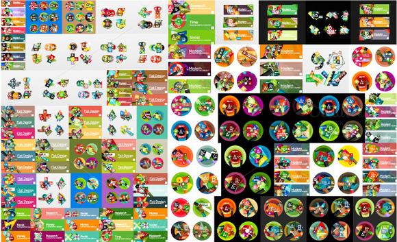 Mega Set Of Diverse Infographics