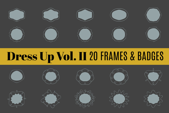 Dress Up Vol 2 20 Frames Border