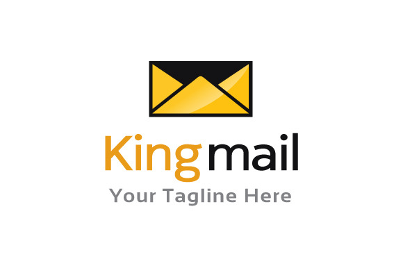 King Mail Logo Template