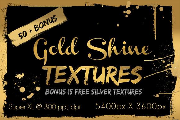 50 Gold Shine Textures Bonus