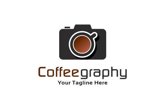 Coffee Camera Logo Template
