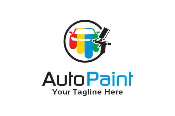 Auto Paint Logo Template