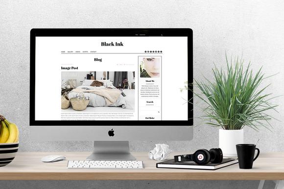 Black Ink Feminine WordPress Theme