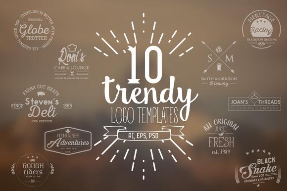 10 Trendy Logo Templates