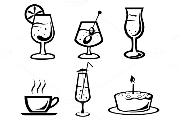 Cocktail And Drink Icons