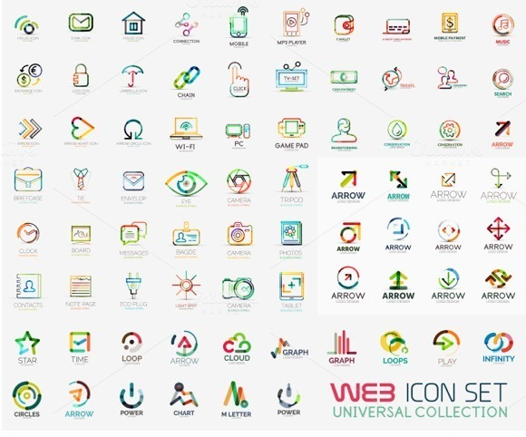 Large Collection Of Line Logos