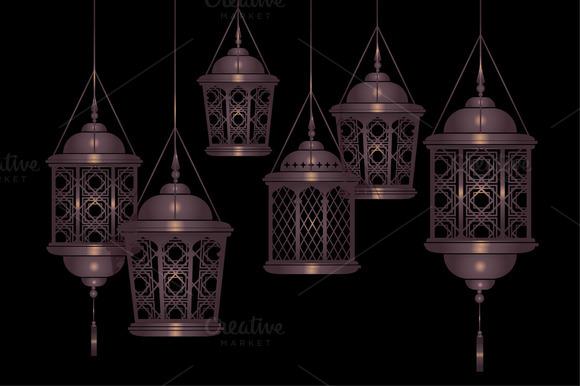 Raya Lantern Vector Illustration
