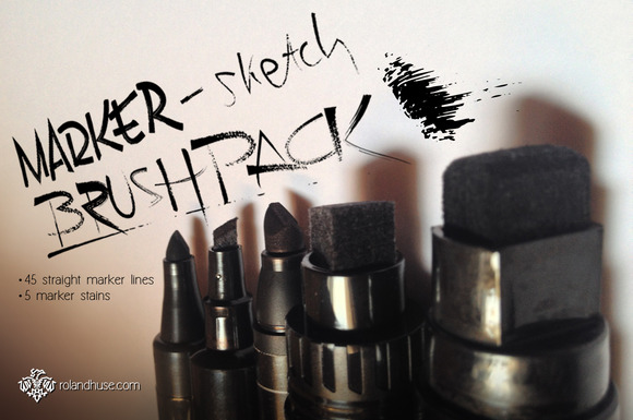 Marker-Sketch Brushpack