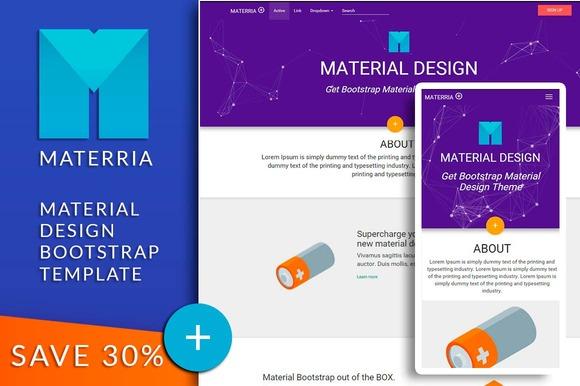 Material Design Bootstrap MATERRIA