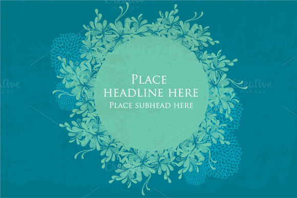 Floral Pattern Template Vector