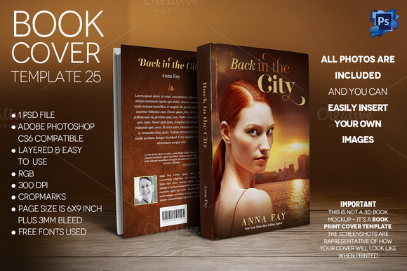 Book Cover Print Template 25