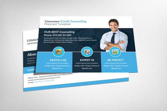 Consumer Credit Counseling Postcard