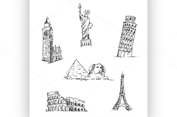 Doodle Travel Set World Landmarks