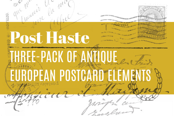 Antique European Postcard 3-Pack