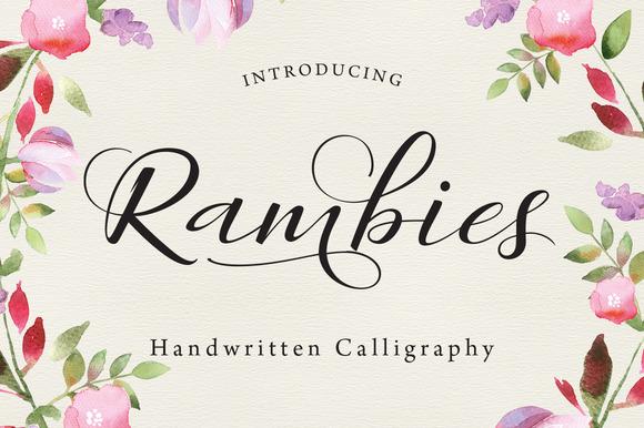 Rambies Handwritten Calligraphy