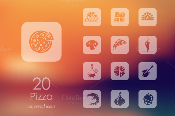 20 Pizza Icons