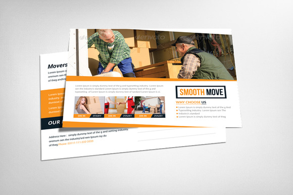 Movers Moving Company Postcard