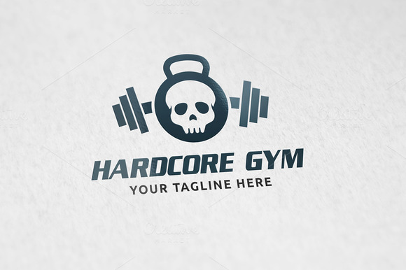 Hardcore Gym Logo Template