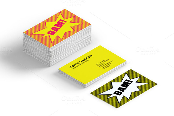 Comic Bubble Business Card Templates