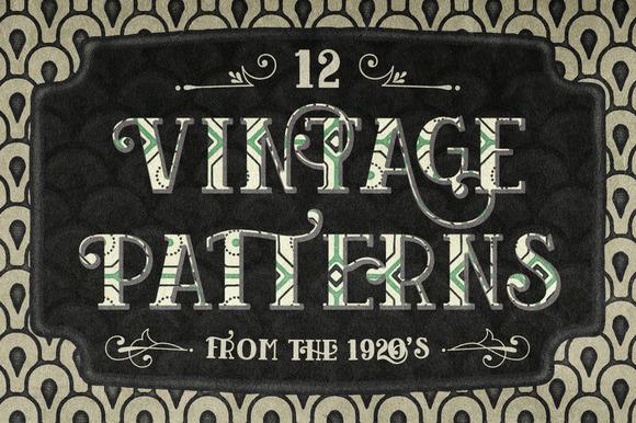 12 Vintage Seamless Patterns