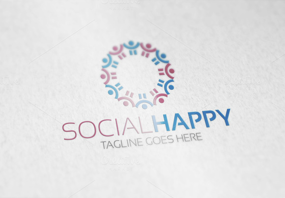 Social Happy Logo