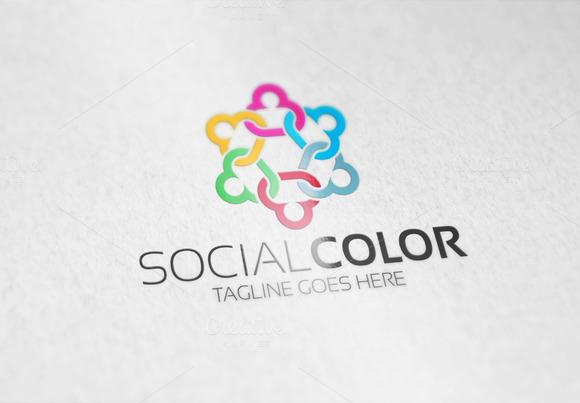 Social Color Logo